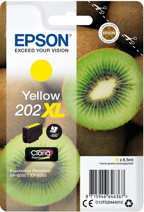 Epson C13T02H44010, 202XL claria yellow
