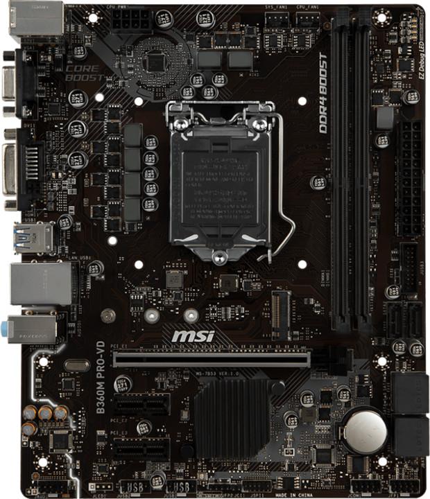 MSI B360M PRO-VD - Intel B360