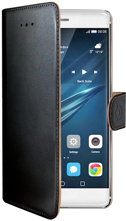 CELLY Wally Pouzdro typu kniha pro Huawei P9, PU kůže, černé