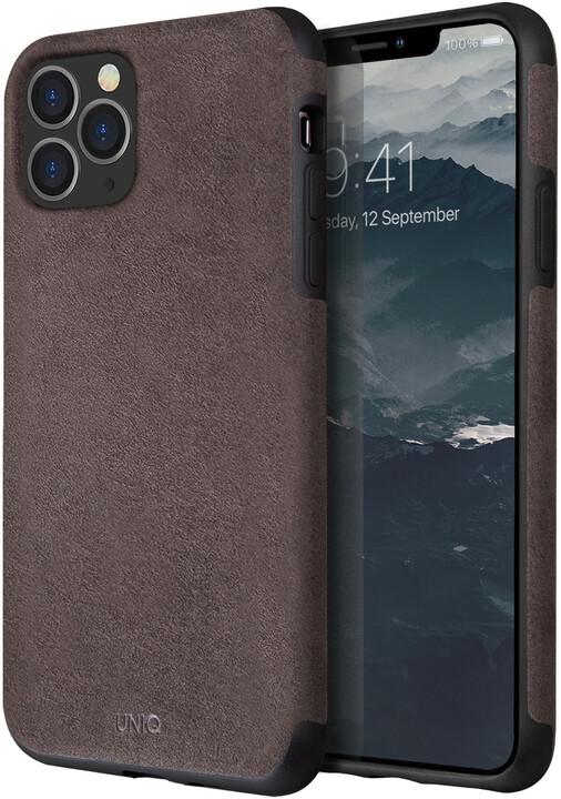 UNIQ Sueve Hybrid pouzdro pro iPhone 11 Pro, Taupe Warm, šedá