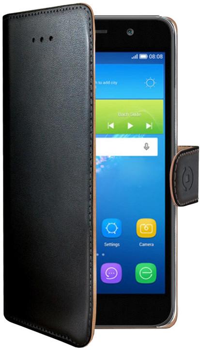 CELLY Wally pouzdro pro Huawei Y6, PU kůže, černá