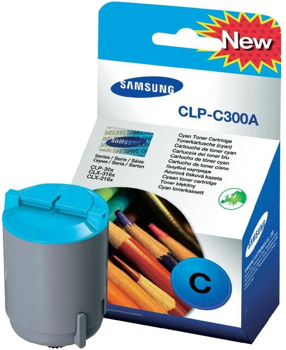 Samsung CLP-C300A/ELS, azurový