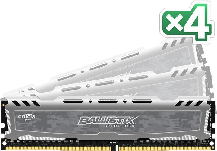 Crucial Ballistix Sport LT 32GB (4x8GB) DDR4 2400