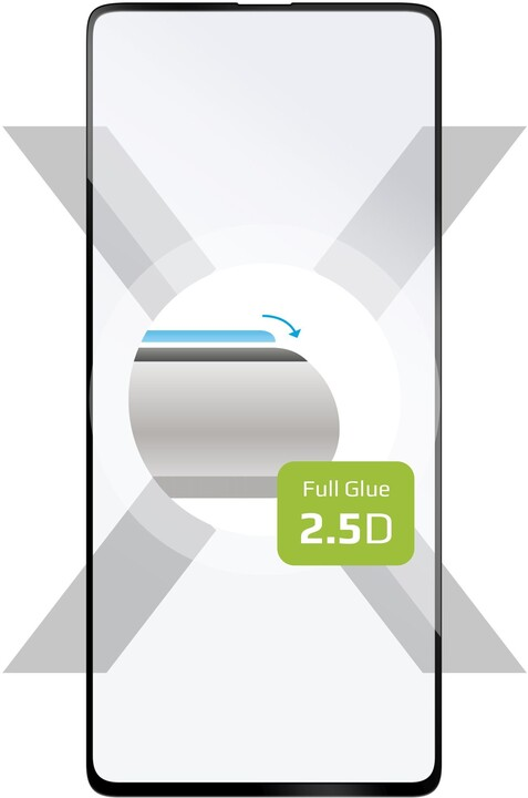 FIXED ochranné tvrzené sklo pro Samsung Galaxy A51 5G, Full-Cover, 2.5D, černá