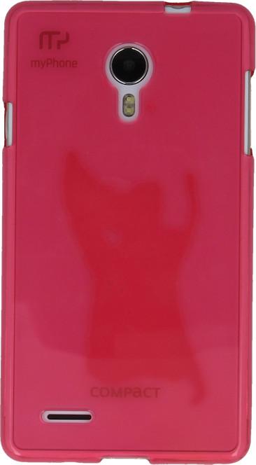 myPhone silikonové pouzdro pro Compact, transparentní růžová