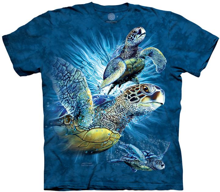 Tričko The Mountain Find 9 Sea Turtles, dětské (S)