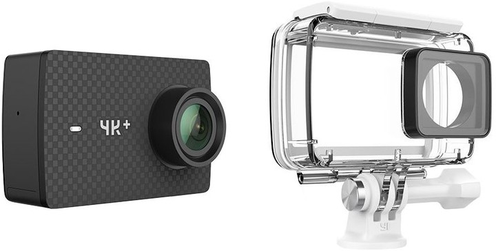 YI 4K+ Action Camera Waterproof Set, černá
