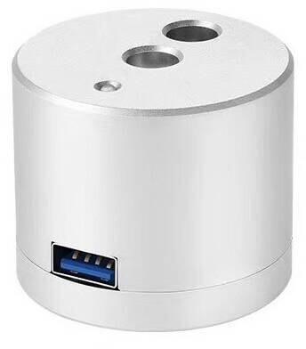 COTEetCI nabíjecí stanice SD-17 pro Apple Pencil, Lightning, 1xUSB-A, stříbná