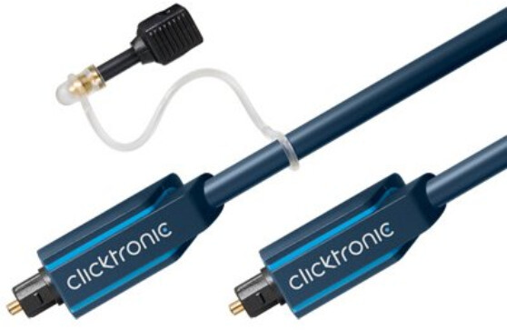 ClickTronic HQ Optický kabel Toslink TOS male - TOS male, s redukcí na 3.5mm, 1m