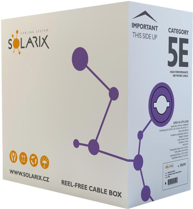 Solarix instalační kabel CAT5E UTP LSOH E 305m/box SXKD-5E-UTP-LSOH