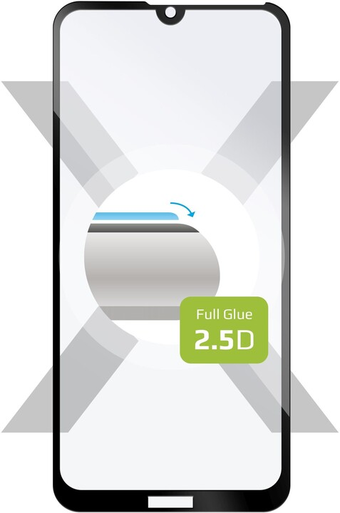 FIXED ochranné tvrzené sklo Full-Cover pro Huawei Y7 (2019), lepení přes celý displej, černá
