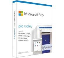 Microsoft 365 pro rodiny 1 rok - elektronicky - 6GQ-00092