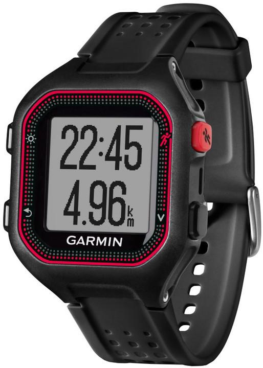 GARMIN Forerunner 25 HR, XL, červená/černá