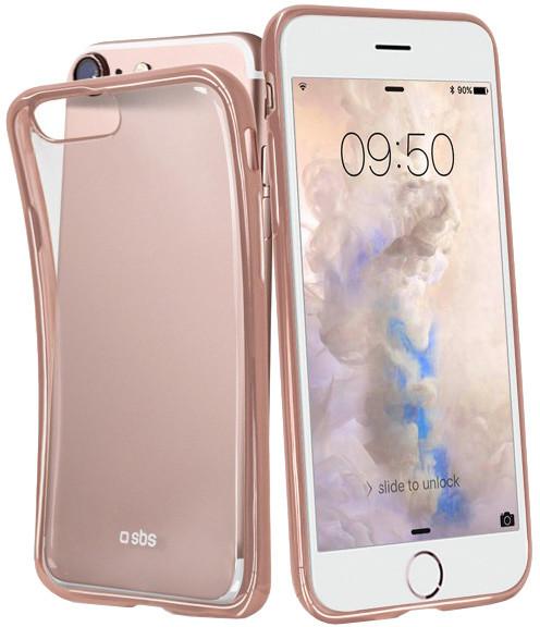 SBS Extra Slim Gold Collection pouzdro pro iPhone 8/7/6S/6, transparentní růžová