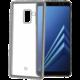CELLY Laser TPU pouzdro - lemování s kovovým efektem pro Samsung Galaxy A8 Plus 2018, stříbrné