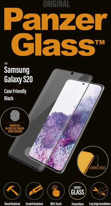 PanzerGlass ochranné sklo Premium pro Samsung Galaxy S20, FingerPrint Ready, černá