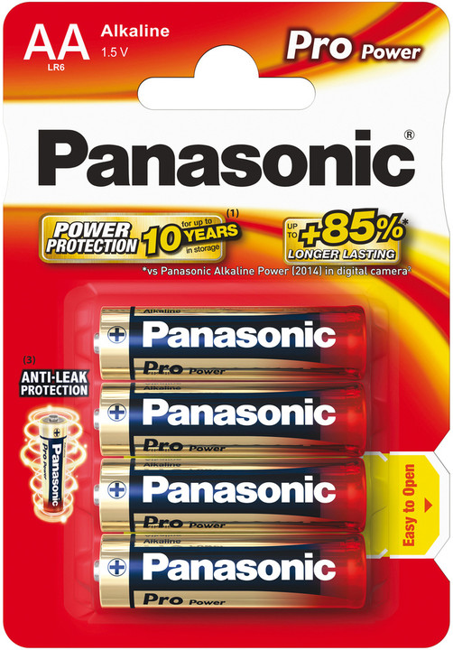 Panasonic baterie LR6 4BP AA Pro Power alk