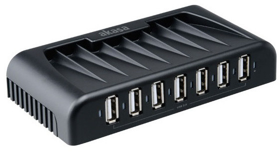 Akasa USB hub Connect 7+ s adaptérem