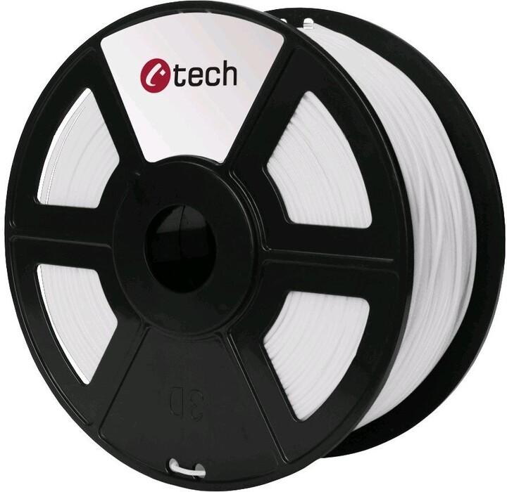 C-TECH tisková struna (filament), PLA, 1,75mm, 1kg, bílá