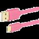 AXAGON BUMM-AM10QP, 1 m, růžový