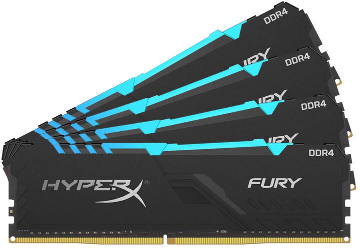 HyperX Fury RGB 64GB (4x16GB) DDR4 3200 CL16