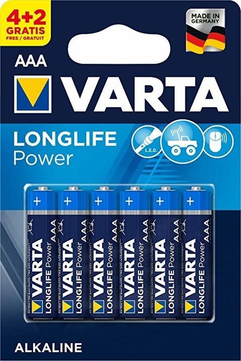 VARTA baterie Longlife Power AAA, 4+2ks