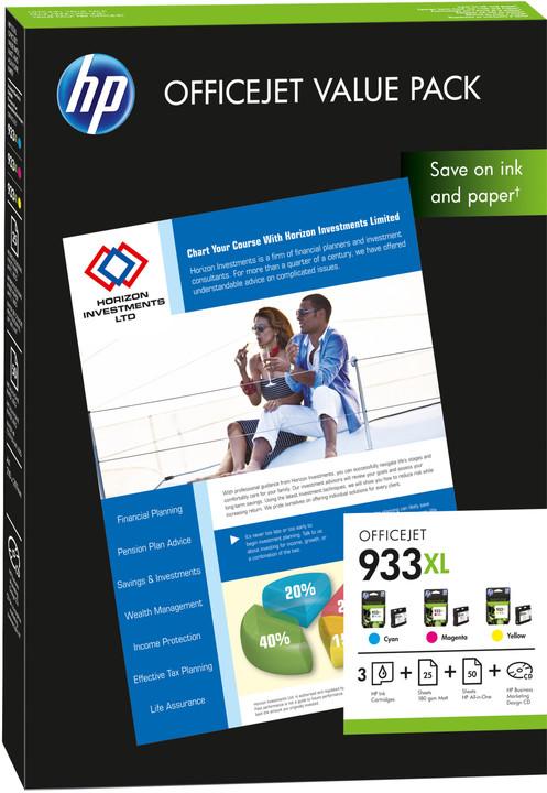 HP CR711AE, Value Pack, č. 933XL + papír A4, 75ks – ušetřete až 20 % oproti standardní náplni