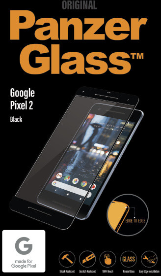 PanzerGlass Edge-to-Edge pro Google Pixel 2, černé