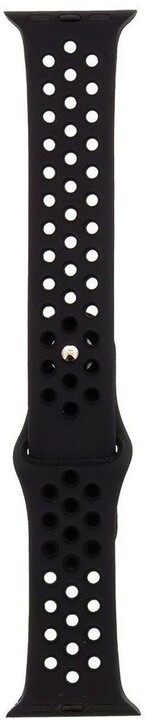 Tactical 161 silikonový řemínek Double pro Apple Watch 1/2/3/4/5/6/SE, 42/44mm, černá