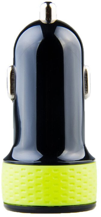Avacom nabíječka do auta NACL-1XKG-10A s výstupem USB 5V/1A, černo/zelená