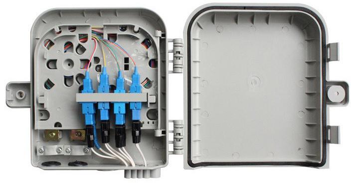 Masterlan FTTH optický spojovací box pro 8x SC, včetně kazety a spojek, šedivá