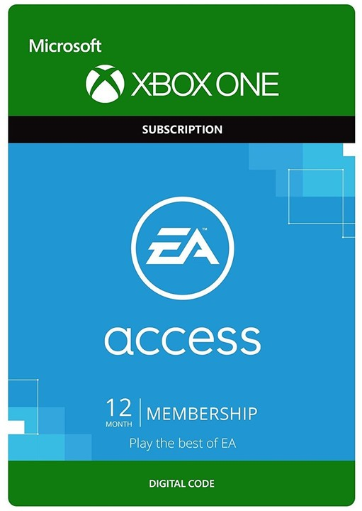 EA Access: 12 Month Subscription (Xbox ONE) - elektronicky