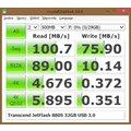 Transcend JetFlash 880S 32GB, stříbrná