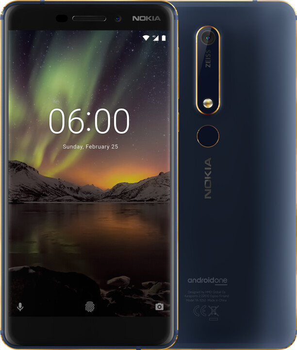 Nokia 6.1 2018, Single Sim, 32GB, modrá