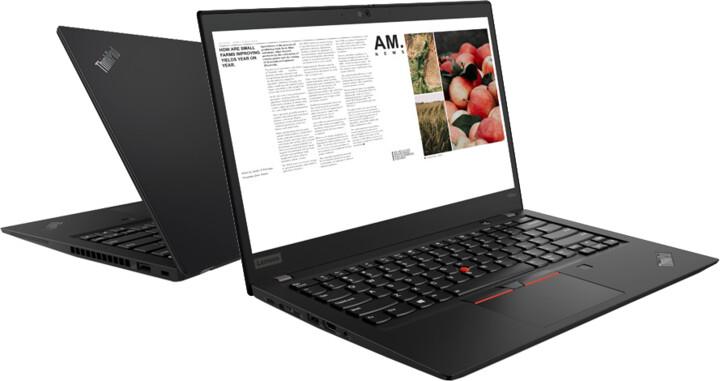 Lenovo ThinkPad T495s, černá