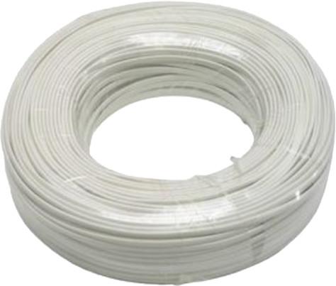 PremiumCord kabel telefonní 2 žíly 100m, bílá