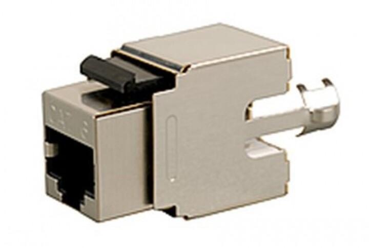 Solarix zařezávací keystone CAT6 STP RJ45 SXKJ-6-STP-BK