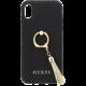 GUESS Saffiano Ring zadní kryt pro iPhone X, Black