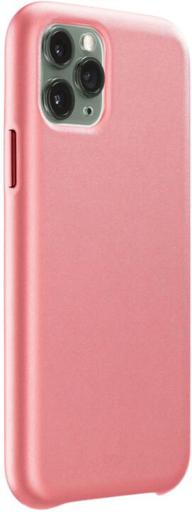 CellularLine ochranný kryt Elite pro Apple iPhone 11 Pro Max, PU kůže, oranžová