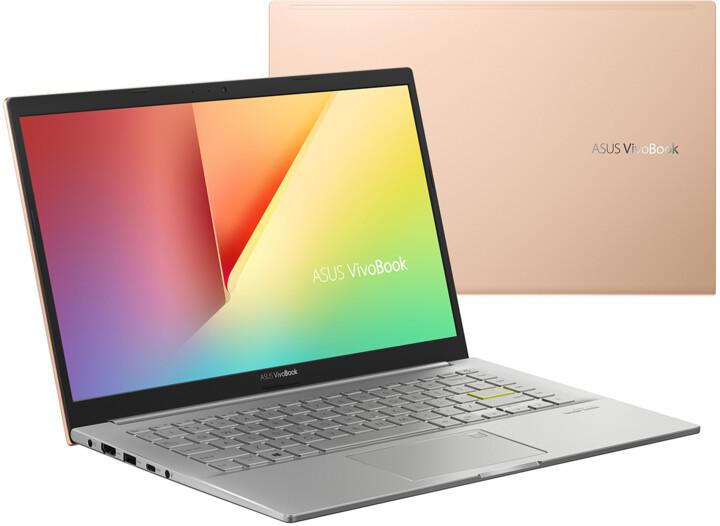 ASUS VivoBook 14 K413EA (11th gen Intel), zlatá