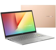 ASUS VivoBook 14 K413EA (11th gen Intel), zlatá - K413EA-EB510T
