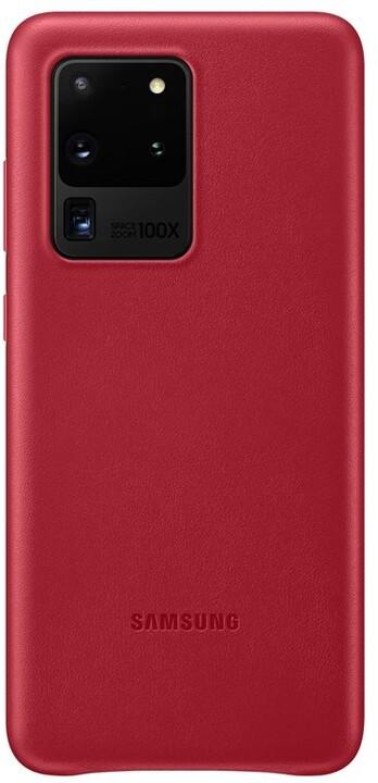 Samsung kožený zadní kryt pro Galaxy S20 Ultra, červená