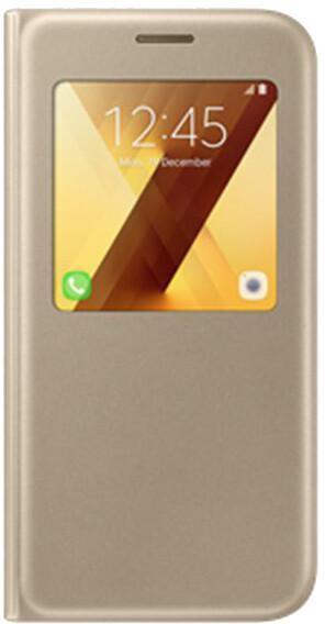 Samsung Galaxy A5 2017 (SM-A520P), flipové pouzdro, S-View, zlaté