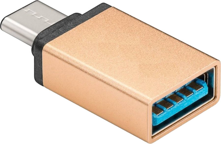 PremiumCord adaptér USB 3.1 konektor C/male - USB 3.0 A/female, OTG, zlatá