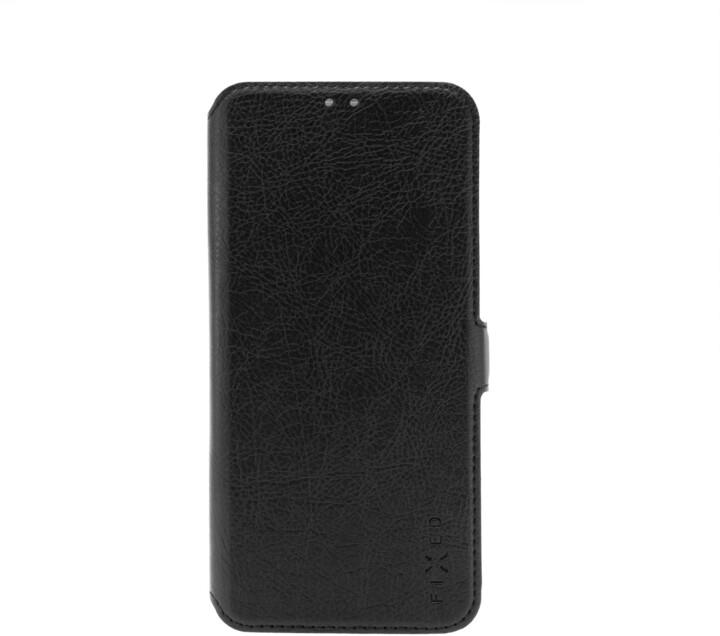 FIXED tenké flipové pouzdro Topic pro Xiaomi Redmi Note 9 Pro/Note 9S, černá