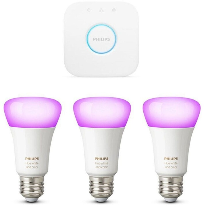 Philips Hue White and Color ambiance 9W E27 starter kit