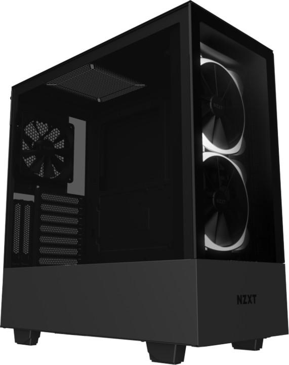 NZXT H510 ELITE, okno, černá