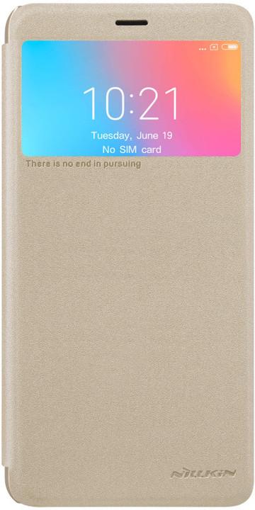 Nillkin Sparkle Folio Pouzdro pro Xiaomi Redmi 6A, zlatý