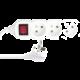 Emos prodlužovací přívod, 3 zásuvky, vypínač, 3m, bílá