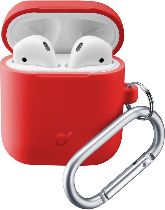 Cellularline Bounce ochranný kryt pro Apple AirPods, červená